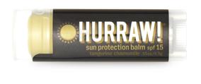 Hurraw! Бальзам для губ Sun Protection Balm SPF 15 (SPF 15 Sun Balm), 4,3 г005182Бальзамы для губ Hurraw! производятся в США на небольшом домашнем производстве. Идея создателей бренда заключалась в том, чтобы разработать поистине идеальный бальзам для губ: натуральный, вегетарианский, произведенный из органических ингредиентов высочайшего качества и не содержащий вредных веществ и искусственных компонентов. Все бальзамы Hurraw! производятся из чистого органического масла, которое добывается путем холодного отжима, что позволяет всем веществам сохранять свои полезные свойства. Помимо этого, приятно знать, что продукция марки Hurraw! не содержит ингредиентов животного происхождения и никогда не тестируется на животных. А еще бальзамы разливаются по флакончикам вручную!