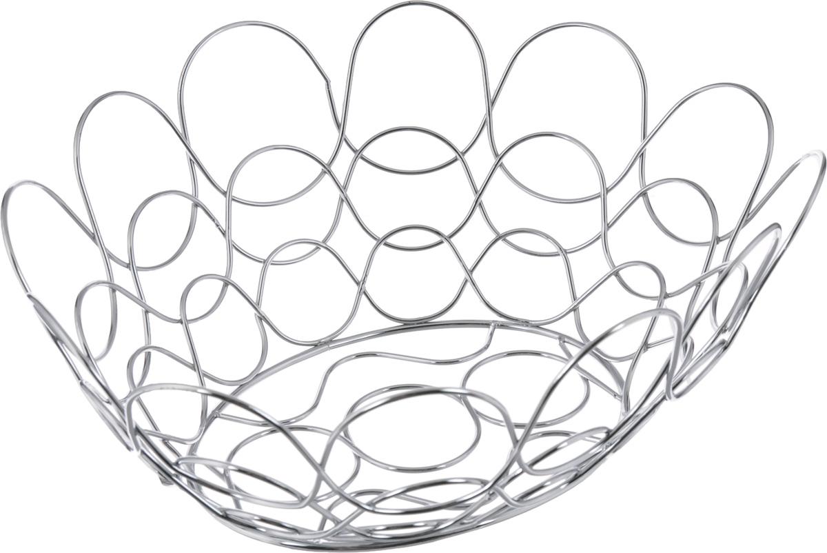 Фруктовница Guterwahl, овальная, 34 х 30 х 13,5 смYSH-1183Оригинальная фруктовница Guterwahl, изготовленная из нержавеющей стали с хромированной поверхностью, идеально подходит для хранения и красивой сервировки любых фруктов. Современный дизайн фруктовницы идеально впишется в интерьер вашей кухни. Изделие рекомендуется мыть вручную с применением любых неабразивных моющих средств. Не рекомендуется использование металлических щеток для чистки. Размер (по верхнему краю): 34 х 30 см.