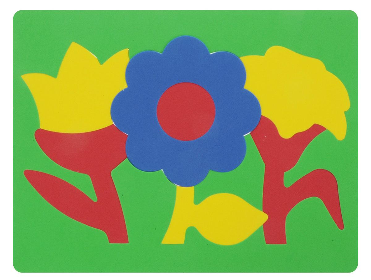 Фантазер Пазл для малышей Цветы цвет основы зеленый 063551Ц_зеленый