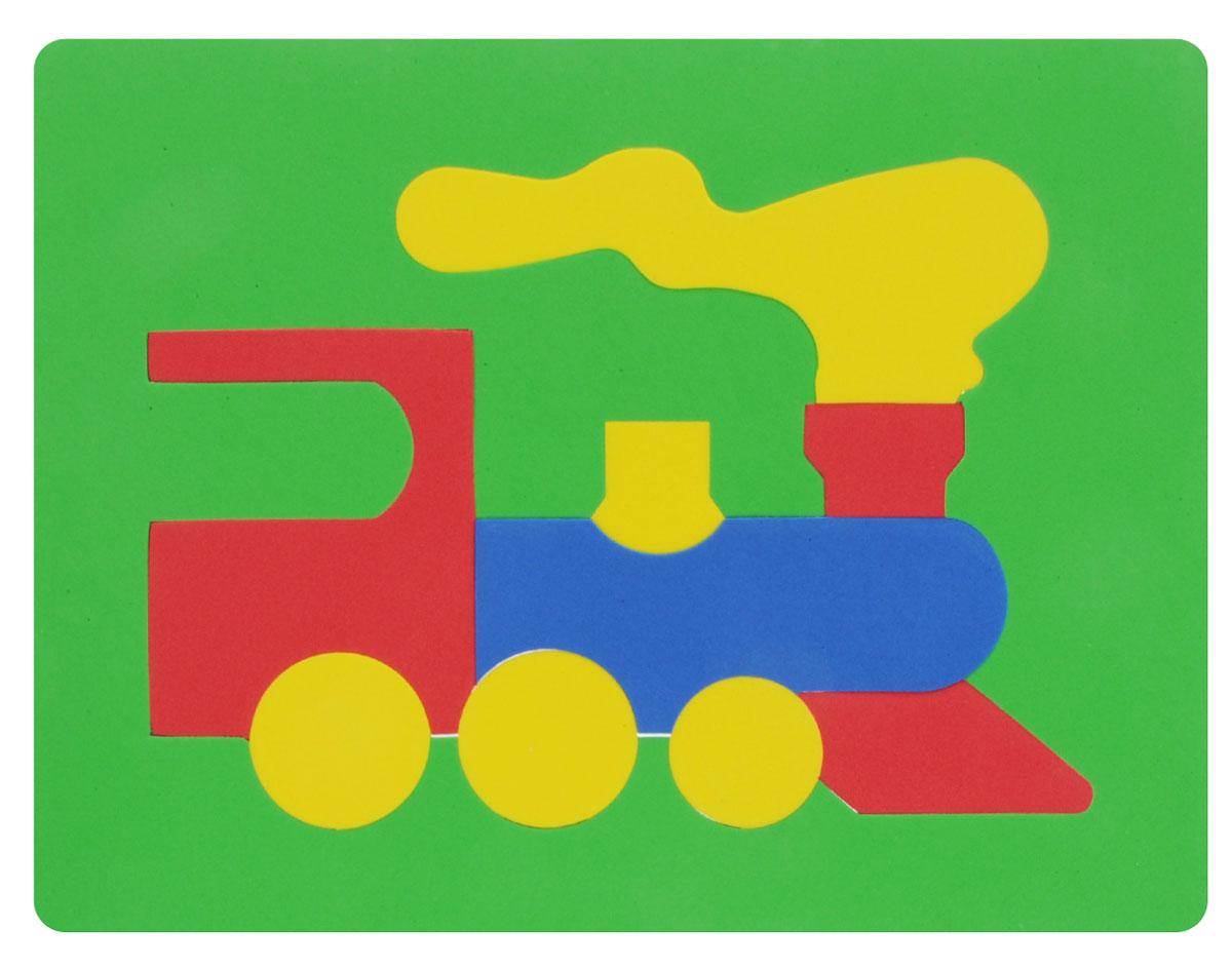 Фантазер Пазл для малышей Паровозик цвет основы зеленый 063551Т_зеленый