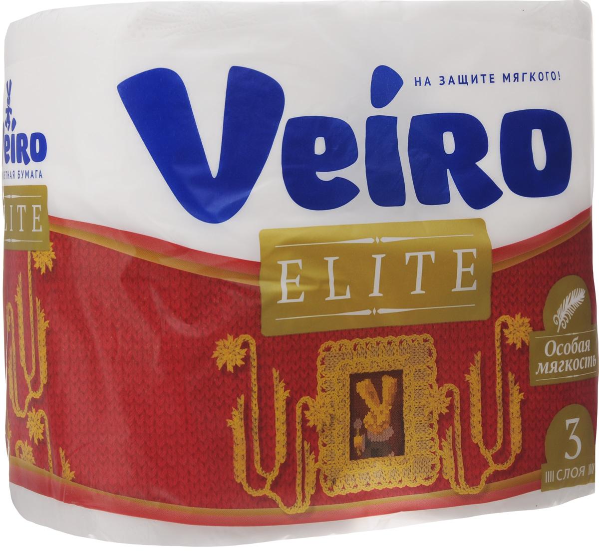 Бумага туалетная Veiro Elite, трехслойная, 4 рулона9С34Туалетная бумага Veiro Elite, выполненная из натуральной целлюлозы, обеспечивает превосходный комфорт и ощущение чистоты и свежести. Необыкновенно мягкая, но в тоже время прочная, бумага не расслаивается и отрывается строго по линии перфорации, не вызывает аллергии и раздражения. Трехслойные листы имеют рисунок с перфорацией. Количество слоев: 3. Размер листа: 12,5 х 9,5 см. Длина намотки: 20 м. Состав: 100% целлюлоза.