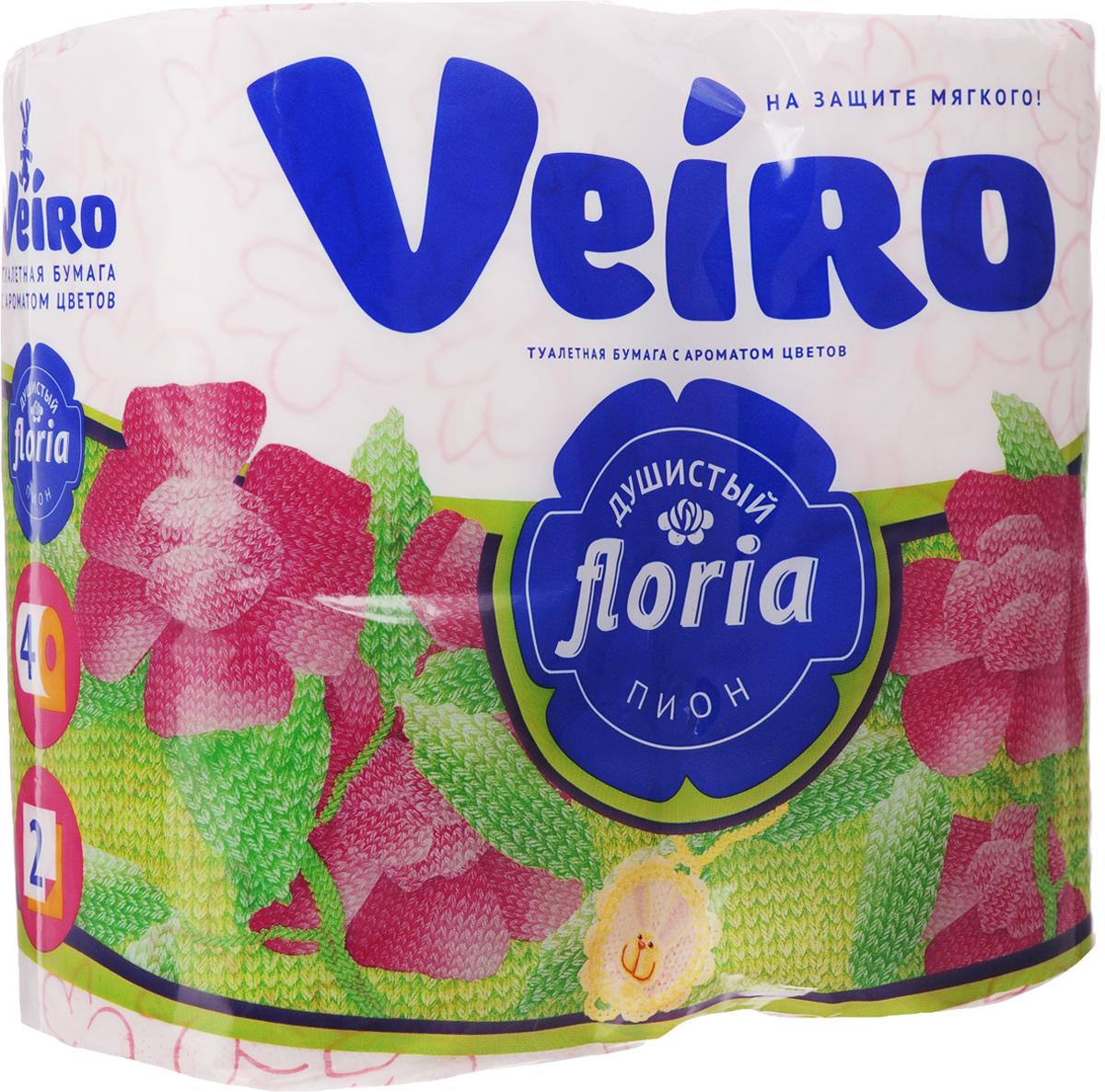 Бумага туалетная Veiro Floria. Душистый пион, ароматизированная, двухслойная, 4 рулона10503Ароматизированная туалетная бумага Veiro Floria. Душистый пион, выполненная из натуральной целлюлозы и обладает приятным ароматом цветов. Двухслойная туалетная бумага мягкая, нежная, но в тоже время прочная, с отрывом по линии перфорации. Листы имеют рисунок с тиснением.Длина рулона: 21,9 м. Количество слоев: 2.Размер листа: 12,5 х 9,5 см. Состав: 100% целлюлоза.