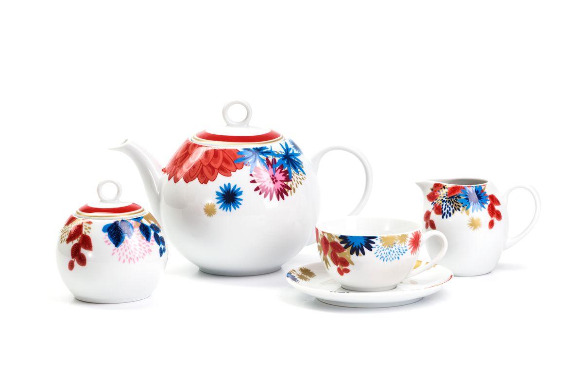 Сервиз чайный La Rose des Sables Ilionor, 15 предметов559511 2227Можно использовать в СВЧ и посудомоечной машине.