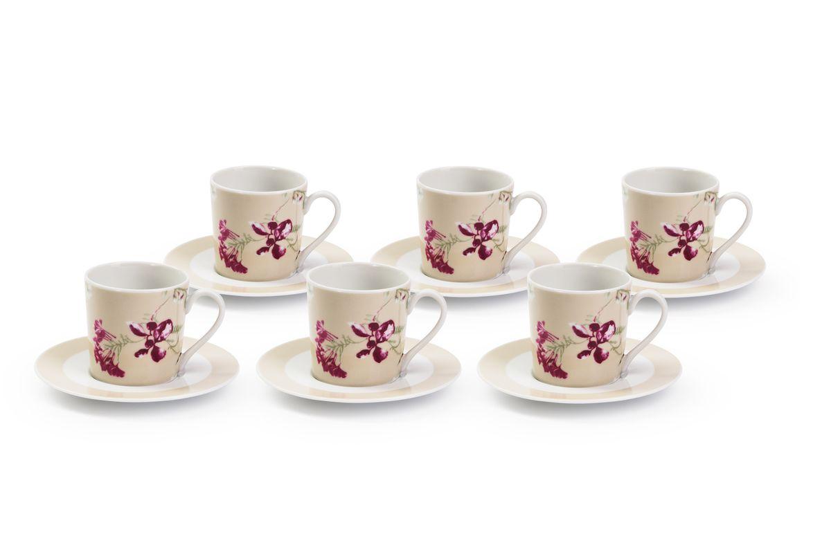 Набор кофейных пар La Rose des Sables Liberty, 6 шт839006 2150Можно использовать в СВЧ и посудомоечной машине.