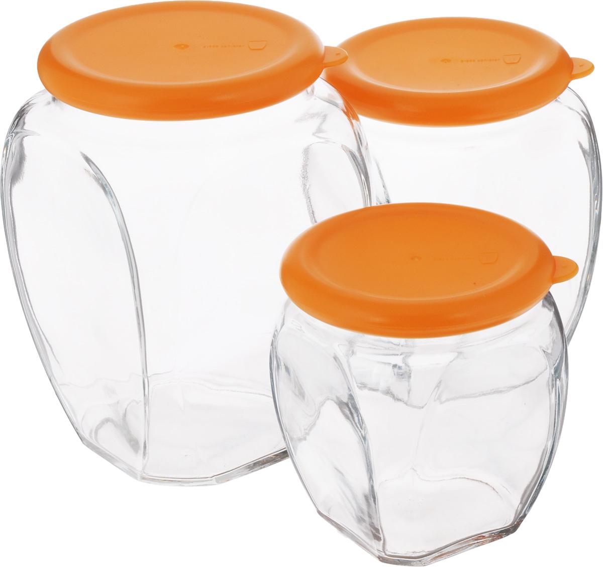 Набор контейнеров для сыпучих продуктов Glasslock, 3 шт. IG-674 absolute absolute плед dermot 180х230 см