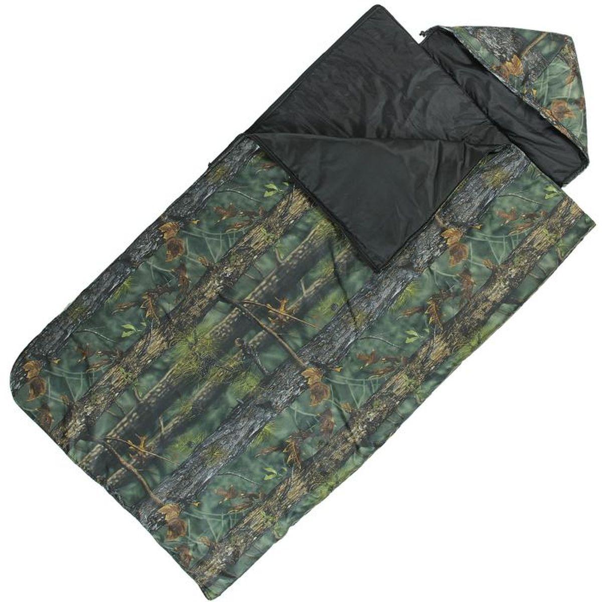 Спальный мешок Onlitop Богатырь, цвет: хаки, правосторонняя молнияс58836Комфортный, просторный и очень теплый 3-х сезонный спальник предназначен для походов и для отдыха на природе не только в летнее время, но и в прохладные дни весенне-осеннего периода. В теплое время спальный мешок можно использовать как одеяло (в том числе и дома).
