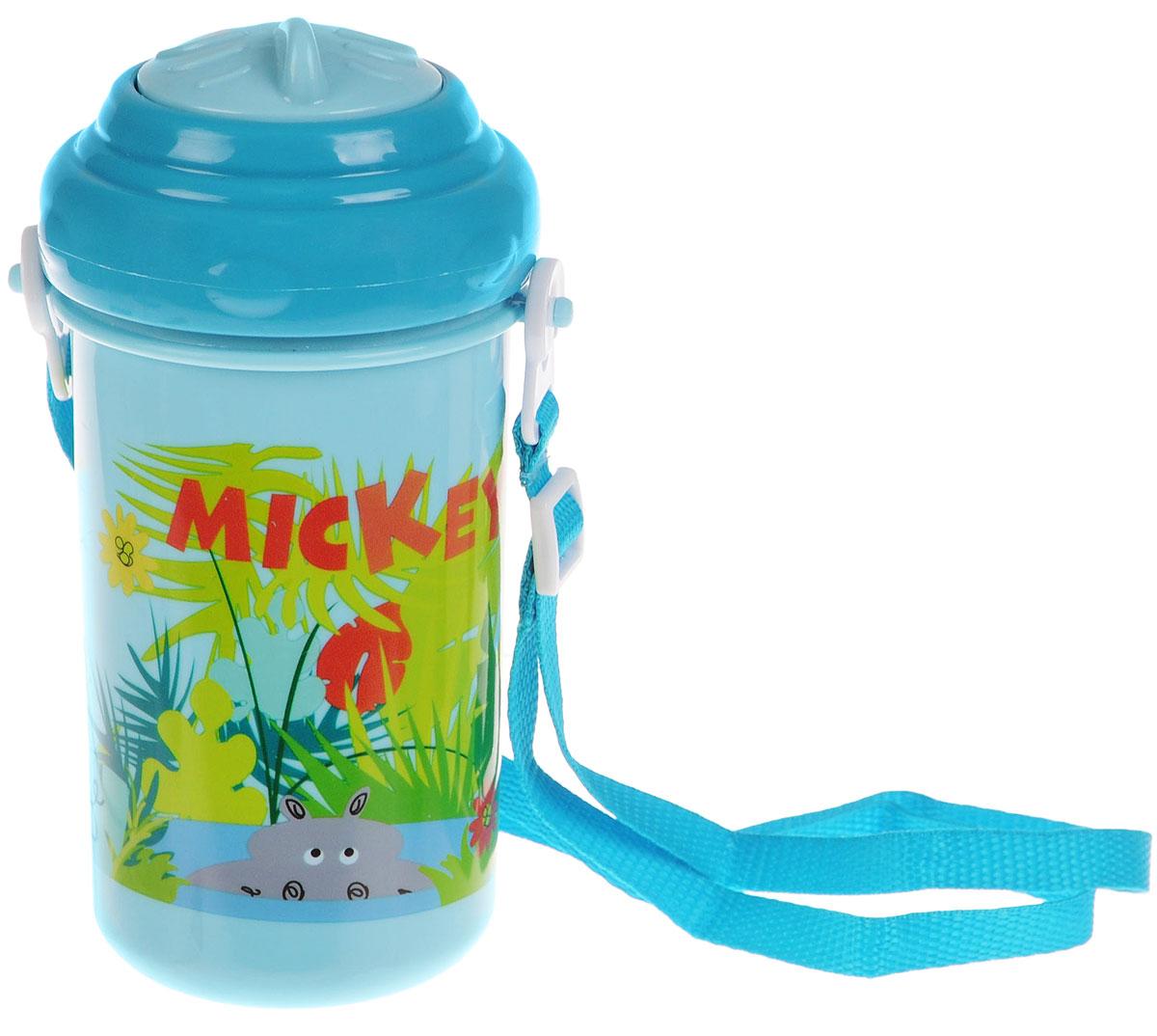 Lubby Поильник-непроливайка Микки и Минни с трубочкой от 6 месяцев цвет голубой 360 мл