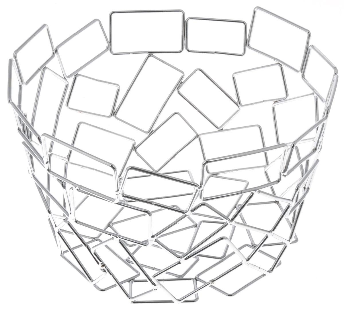Фруктовница Guterwahl, круглая, диаметр 23 см. YSH-1104YSH-1104Оригинальная фруктовница Guterwahl, изготовленная из нержавеющей стали с хромированной поверхностью, идеально подходит для хранения и красивой сервировки любых фруктов. Современный дизайн фруктовницы идеально впишется в интерьер вашей кухни. Изделие рекомендуется мыть вручную с применением любых неабразивных моющих средств. Не рекомендуется использование металлических щеток для чистки. Диаметр (по верхнему краю): 23 см. Высота: 14 см.