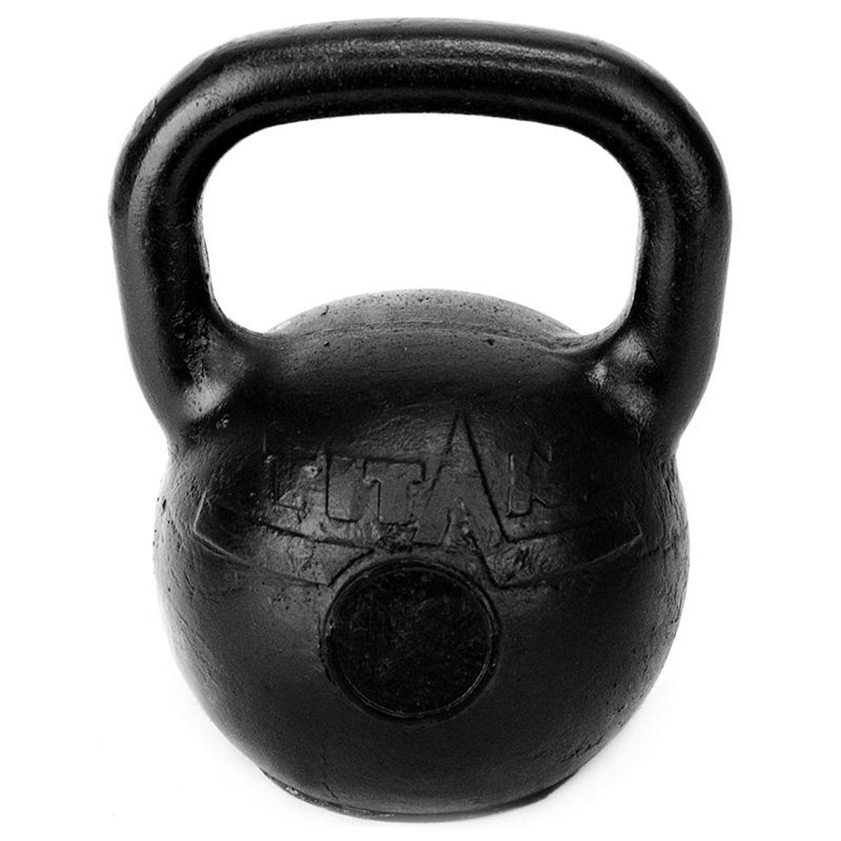 Гиря чугунная Titan, 10 кгTITAN-10Гиря Titan выполнена из высококачественного прочного чугуна. Эргономичная рукоятка не скользит в руке, обеспечивая надежный хват. Чугунная гиря прочна, долговечна, устойчива к коррозии и температурам, поэтому является одними из самых популярных спортивных снарядов. Гири - это самое простое и самое гениальное спортивное оборудование для развития мышечной массы. Правильно поставленные тренировки с ними позволяют не только нарастить мышечную массу, но и развить повышенную выносливость, укрепляют сердечнососудистую систему и костно-мышечный аппарат. Вес гири: 10 кг.