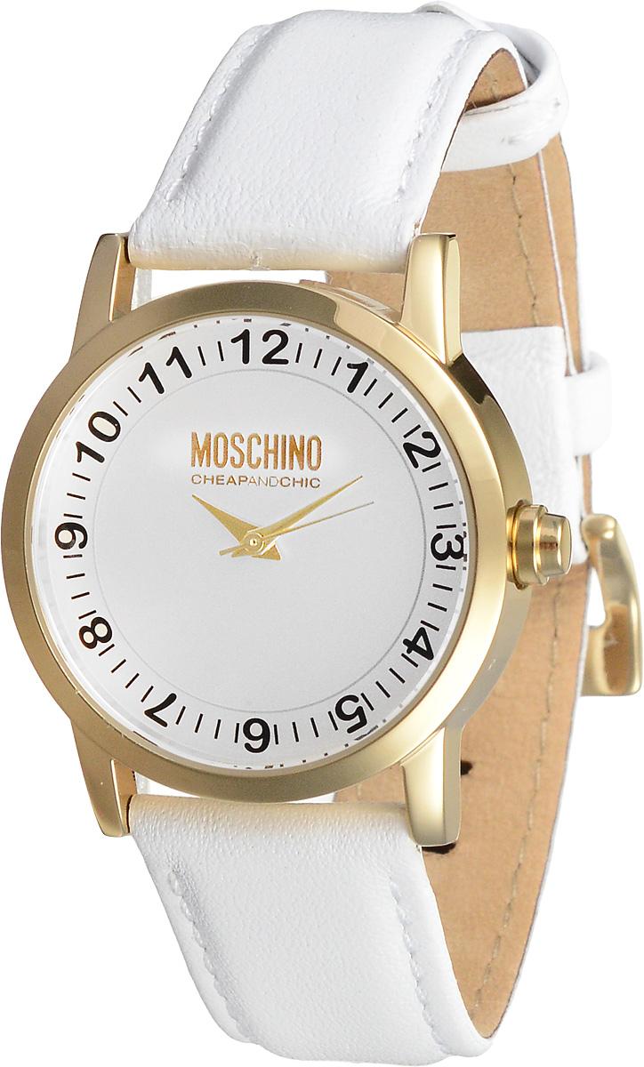 Часы женские наручные Moschino, цвет: белый, золотистый. MW0362BP-001 BKНаручные женские часы Moschino произведены опытными специалистами из материалов самого высокого качества на базе новейших технологий.Они оснащены точным кварцевым механизмом. Водонепроницаемый корпус часов, изготовленный из нержавеющей стали, защищен минеральным стеклом. Ремешок выполнен из натуральной кожи и оснащен классической застежкой.В комплекте с часами поставляется 3 сменные накладки для корпуса, изготовленные из высококачественного пластика.Циферблат круглой формы оснащен арабскими цифрами и тремя стрелками - часовой, минутной и секундной. Изделие укомплектовано в фирменную металлическую коробку с названием бренда.Наручные часы Moschino созданы для современных девушек, которые не желают потерять свою индивидуальность в городской суете.Размер сменных накладок: 3,5 х 3,5 х 1 см; 4 х 4 х 1 см; 3,5 х 3,5 х 1 см.