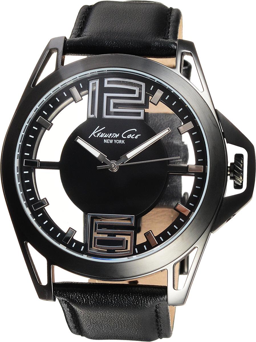 Часы мужские наручные Kenneth Cole, цвет: черный. 10022526INT-06501Наручные мужские часы Kenneth Cole изготовлены из материалов самого высокого качества на базе новейших технологий.Часы оснащены точным кварцевым механизмом. Корпус часов, выполненный из нержавеющей стали, защищен минеральным стеклом, а заводная головка оснащена защитой. Браслет из нержавеющей стали имеет застежку клипсу.Прозрачный циферблат оснащен цифрами, отметками, а также тремя стрелками - часовой, минутной и секундной.Изделие укомплектовано в фирменную коробку с названием бренда.