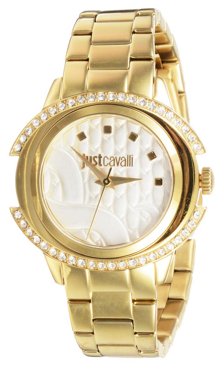 Часы наручные женские Just Cavalli Just Decor, цвет: золотистый. R7253216502R7253216502Великолепные женские наручные часы Just Cavalli Just Decor выполнены из нержавеющей стали. Корпус и циферблат украшены кристаллами Swarovski. Циферблат изделия оформлен отметками, часовой, минутной и секундной стрелками. Также циферблат дополнен названием бренда. Часы оснащены кварцевым механизмом и устойчивым к царапинам минеральным стеклом. Модель обладает степенью влагозащиты 3 atm. Изделие дополнено стальным браслетом, который застегивается на складной замок. Часы поставляются на специальной подушечке в стильной фирменной коробке. Стильные часы добавят шика в ваш повседневный наряд.