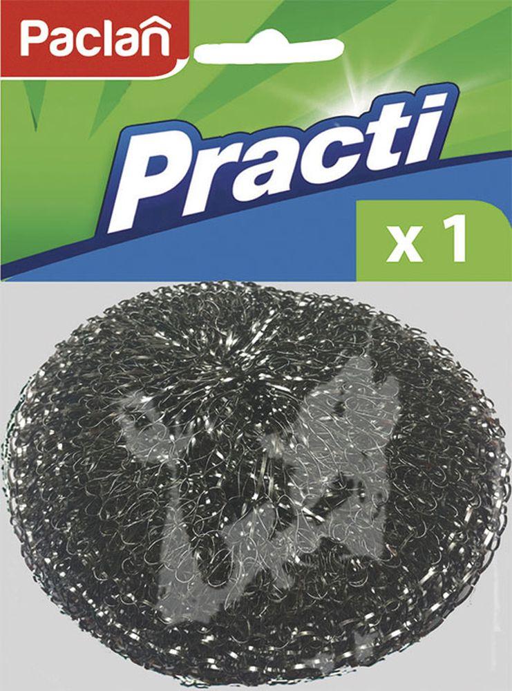 Мочалка металлическая большая Paclan40810278/408005Металическая мочалка для посуды поможет быстро и эффективно очистить до блеска шампуры и решетки для гриля, поддерживать дно кастрюль и сковородок в идеальной чистоте. Прочная и долговечная.