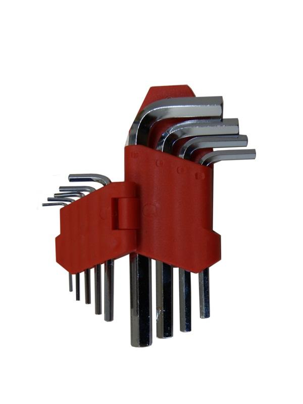 Набор ключей шестигранных Skybear, 9 шт,1,5-10 мм, стандартные311511Набор ключей шестигранных, 9 шт 1.5 - 10 мм, стандартные
