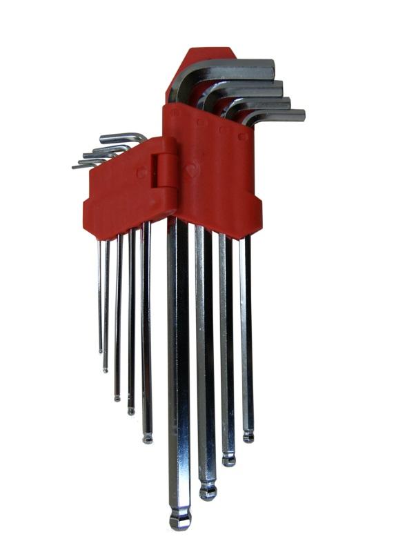 Набор ключей шестигранных Skybear, с шариковой головкой, 9 шт,1,5-10 мм, большие311522Набор ключей шестигранных с шариковой головкой, 9 шт. 1.5 - 10 мм, большие