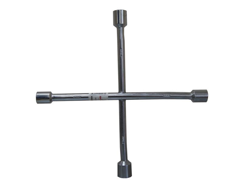 Ключ баллонный крестовой Skybear, 17 х 19 х 21 х 23 мм312110Баллонный крестовой ключ Skybear применяется для монтажа/демонтажа автомобильных колес. Такой инструмент является идеальным решением для использования в любых автосервисах. Данный ключ имеет четыре головки размерами 17 мм, 19 мм, 21 мм и 23 мм. Ключ выполнен из высококачественной стали.