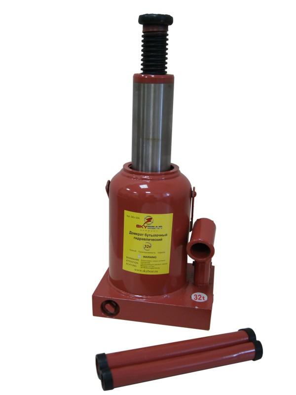 Домкрат бутылочный гидравлический Skybear, 32А т (h230-430)413230Домкрат гидравлический 32А т(h230-430)