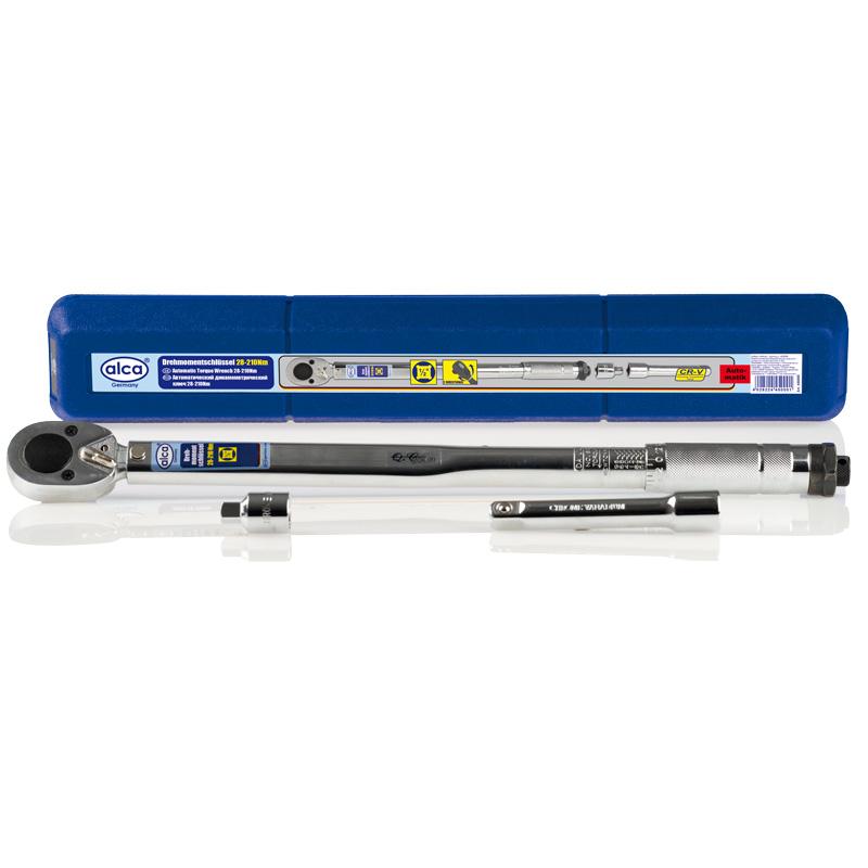Ключ динамометрический Alca, с трещоткой, 1/2, 28-210 Нм450000Автоматический динамометрический ключ Alca используется для надежного и точного закручивания резьбовых соединений. Оснащен трещоткой. Инструмент изготовлен из прочной хромованадиевой стали, что увеличивает срок его службы. Широкий рабочий диапазон обеспечивает качественную работу. Диапазон: 28-210 Нм.