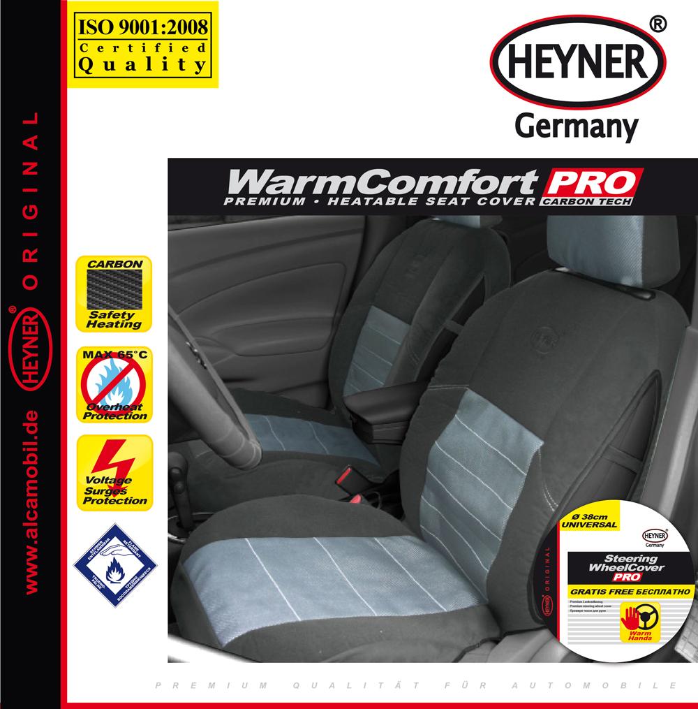 Чехол автомобильный Heyner Карбон, с подогревом, цвет: серый, 12VSC-FD421005Чехол автомобильный Heyner Карбон предназначен для сиденья водителя. Чехол выполнен из прочного материала и снабжен большой поверхностью подогрева. Три режима подогрева обеспечивают комфорт во время эксплуатации. Нагревательные элементы устойчивы к поломке. Чехол снабжен кабелем для подключения к прикуривателю. Защита от перегрева гарантирует долгий срок службы. Длина кабеля: 140 см. Напряжение: 12V.