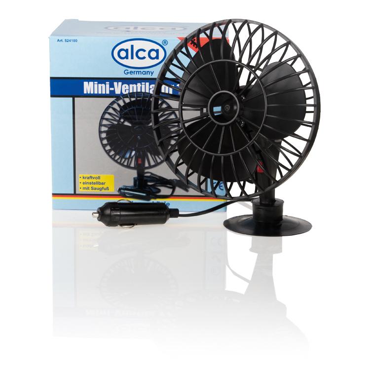Автовентилятор на присоске Alca, 12 В524100Компактный и мощный автомобильный вентилятор Alca выполнен из высококачественного прочного пластика. Вентилятор оснащен присоской, при помощи которой его можно разместить на стекле автомобиля. Автомобильный вентилятор Alca подарит прохладу и станет отличным спасением в жаркий летний зной для вас и ваших близких. Напряжение: 12 В.