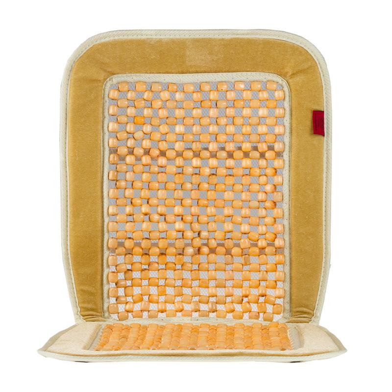 Накидка-массажер на сиденье Heyner, деревянные шарики, цвет: бежевый709200Накидка Heyner обеспечивает массаж и охлаждение для водителя и пассажиров посредством деревянных шариков. Быстро и просто устанавливается на сиденье. Накидка выполнена из велюра.