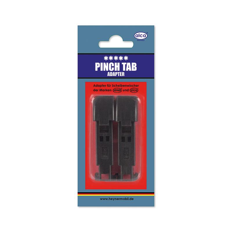 Адаптер для щеток Alca, с защелкой, 2 шт10503Адаптеры Alca применяются для установки щеток стеклоочистителя автомобиля на поводок типа Pinch Tab. Изделия выполнены из прочного пластика.В комплекте 2 адаптера.