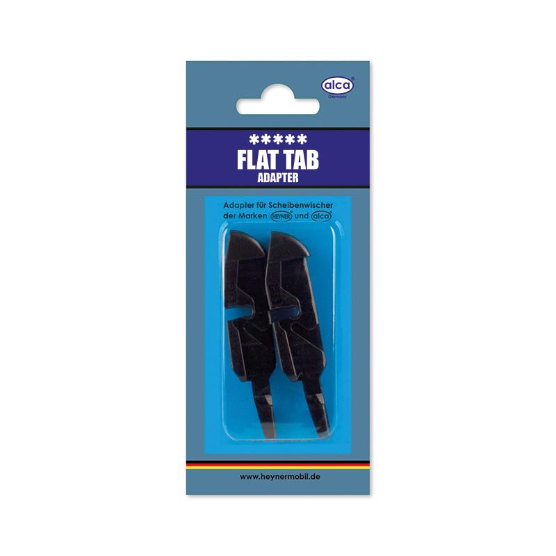 Адаптер для щеток Alca Flat Tab, 2 штW300620Адаптеры Alca Flat Tab применяются для установки щеток стеклоочистителя автомобиля на поводок, отличный от типа крепления крючок. Изделия выполнены из прочного пластика. В комплекте 2 адаптера.