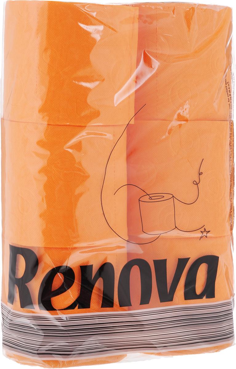 Туалетная бумага Renova Color, трехслойная, ароматизированная, цвет: оранжевый, 6 рулонов10481Туалетная бумага Renova Color изготовлена по новейшей технологии из 100% ароматизированной целлюлозы с лосьоном, благодаря чему она имеет тонкий аромат, очень мягкая, нежная, но в тоже время прочная. Перфорация надежно скрепляет слои бумаги. Туалетная бумага Renova Color сочетает в себе простоту и оригинальность. Состав: 100% ароматизированная целлюлоза. Количество листов: 140 шт. Количество слоев: 3. Размер листа: 11,5 х 9,7 см. Количество рулонов: 6 шт.