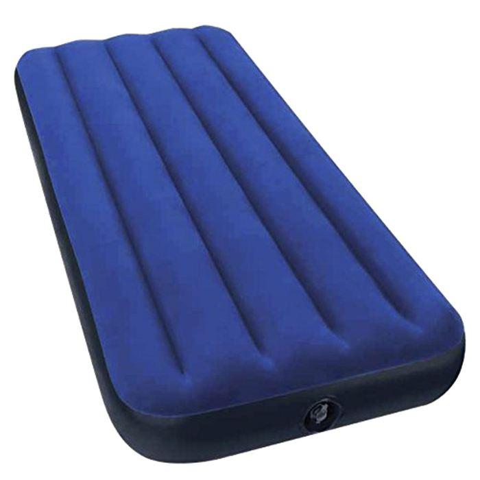Матраc надувной Intex Classic Downy Jr. Twin 76х191х22 см, цвет: синий. 68950АМNB-503Матраc надувной Classic Downy Jr. Twin имеет привлекательный темно-синий цвет. Особенность матраса - наилучшее соотношение цена-качество. При минимальной стоимости изделия Вы получаете комфортную дополнительную кровать для дома и прочный матрас для туризма. Флокированное (велюровое) покрытие не позволит скользить постельному белью. Внутреннее устройство матраса представляет собой оболочку с перегородками для плавного перетекания воздуха. Материал надувного матраса - прочный высококачественный и водонепроницаемый винил. Надувной матрас оснащен клапанами 2 в одном, позволяющими быстро спустить или накачать воздух, используя любой насос фирмы Intex. Матрас можно использовать как дома, так и в путешествиях. Насос в комплекте не предусмотрен.Матраc надувной Classic Downy Jr. Twin 76х191х22 см