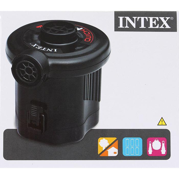 Насос Intex три насадки, цвет: черный. 68638