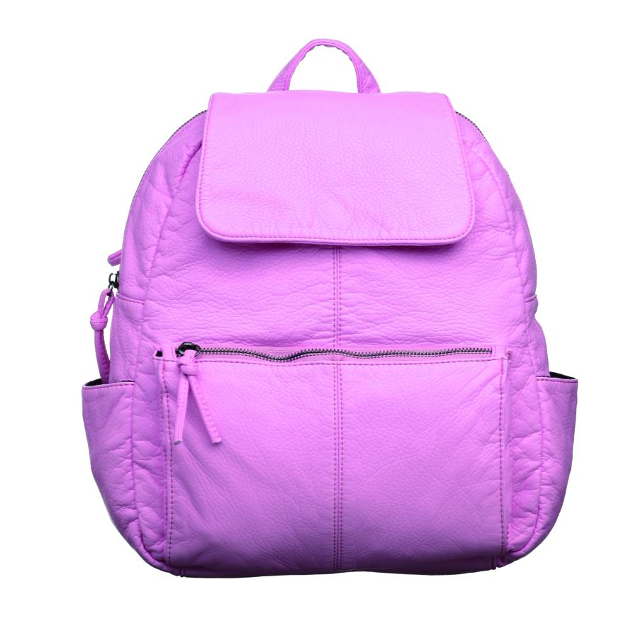 Рюкзак женский OrsOro, цвет: розовый. D-251/20D-251/20Стильный рюкзак OrsOro, выполнен из экокожи и оснащен двумя плечевыми регулируемыми ремнями на спинке и удобной ручкой для переноски. Изделие закрывается на застежку-молнию и дополнительно клапаном на кнопку, внутри имеет одно вместительное отделение с одним накладным карманом для телефона и мелочей и одним прорезным карманом на застежке-молнии. С тыльной стороны изделия имеется прорезной карман на застежке-молнии. Рюкзак оснащен также передним накладным карманом на молнии и двумя боковыми карманами для мелочей. Сумка-рюкзак OrsOro - это выбор молодой, уверенной, стильной женщины, которая ценит качество и комфорт. Изделие станет изысканным дополнением к вашему образу.