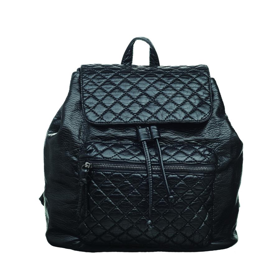 Рюкзак женский OrsOro, цвет: черный. D-255/1D-255/1Стильный рюкзак OrsOro, выполнен из экокожи и оснащен двумя плечевыми регулируемыми ремнями на спинке и удобной ручкой для переноски. Изделие затягивается с помощью шнурка и закрывается клапаном на кнопку, внутри имеет одно вместительное отделение с одним накладным карманом для телефона и мелочей и одним прорезным карманом на застежке-молнии. С тыльной стороны изделия имеется прорезной карман на застежке-молнии. Рюкзак оснащен также передним накладным карманом, на молнии. Сумка-рюкзак OrsOro - это выбор молодой, уверенной, стильной женщины, которая ценит качество и комфорт. Изделие станет изысканным дополнением к вашему образу.