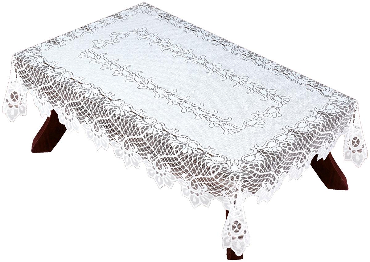 Скатерть Haft, прямоугольная, цвет: белый, 130 х 180 см. 5488054880/130Великолепная скатерть Haft, выполненная из полиэстера, органично впишется в интерьер любого помещения, а оригинальный дизайн удовлетворит даже самый изысканный вкус. Скатерть Haft создаст праздничное настроение и станет прекрасным дополнением интерьера гостиной, кухни или столовой.