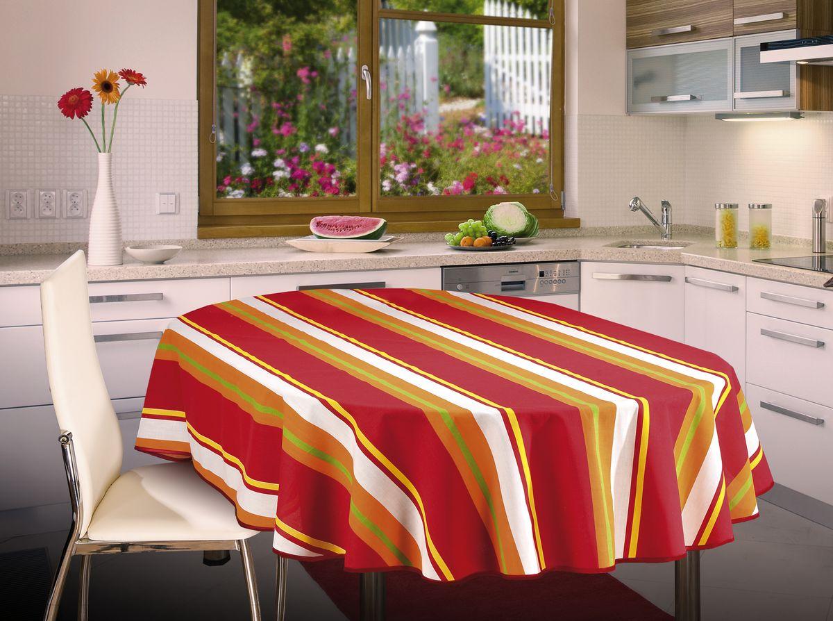 Скатерть Wisan, овальная, цвет: красный, 130 х 180 см334ВСкатерть выполнена в европейском стиле,ткань плотная.