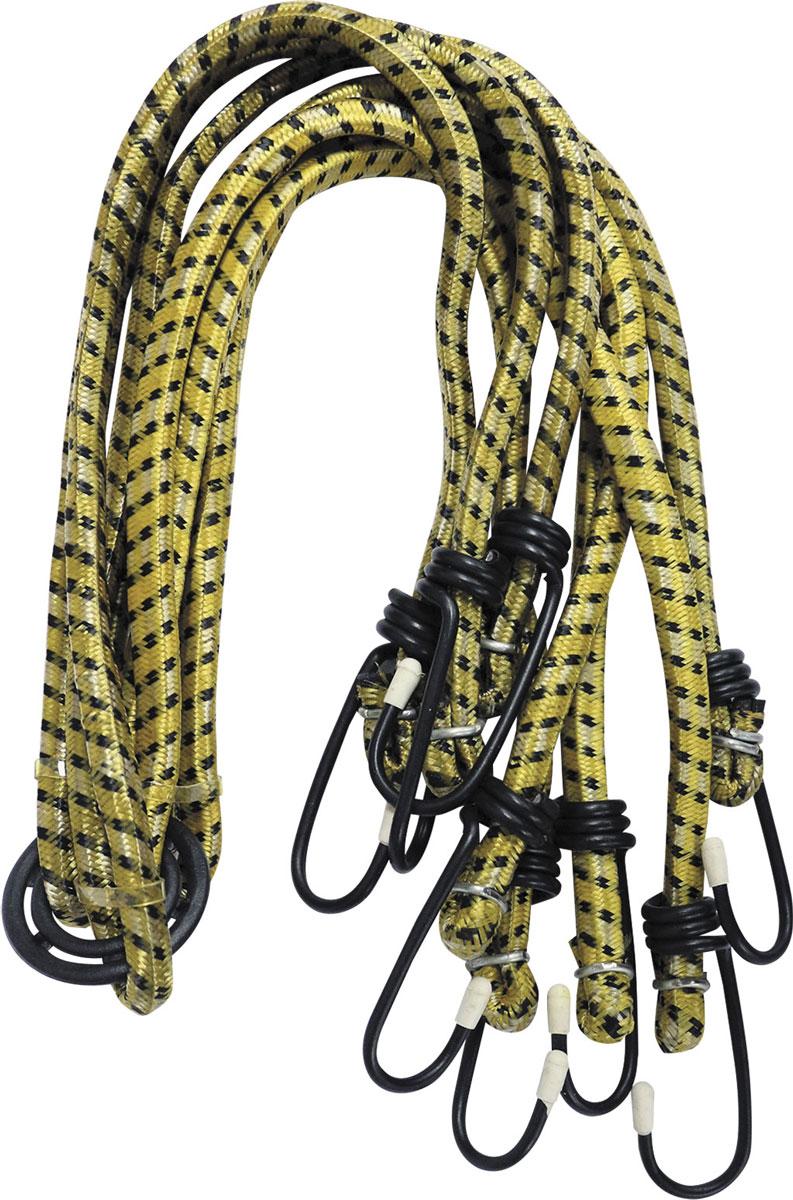Стяжки для багажника Zipower, эластичные, 75 см, 4 штPM 4252Эластичные стяжки для багажника Zipower позволяют надежно зафиксировать груз в открытом багажнике автомобиля, велосипеда. Прочные металлические крючки обеспечивают удобное крепление. Эластичный материал стяжек прочен, долговечен, устойчив к изнашиванию и истиранию. Стяжки можно использовать раздельно или вместе с центральным кольцом (паук). Длина стяжек: 75 см. Количество стяжек: 4.