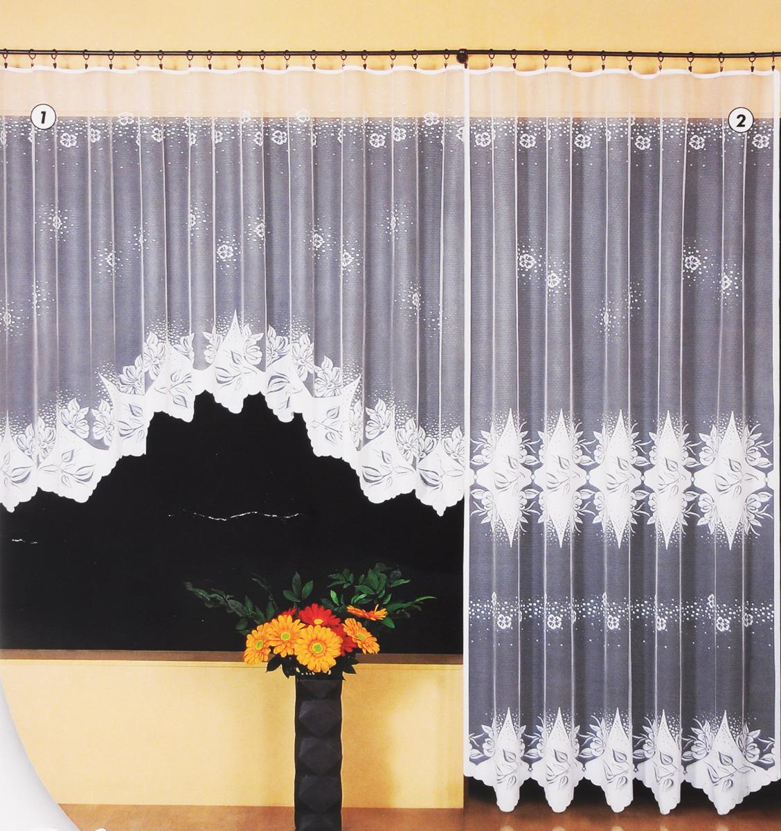 Гардина Wisan Katarzyna, цвет: белый, высота 250 см. 94829482Гардина Wisan Katarzyna, изготовленная из полиэстера, станет великолепным украшением любого окна. Изделие, оформленное цветочным рисунком, привлечет к себе внимание и органично впишется в интерьер комнаты. Оригинальное оформление гардины внесет разнообразие и подарит заряд положительного настроения. Гардина крепится при помощи зажимов для штор (не входят в комплект).