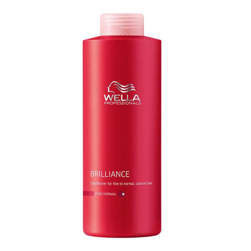 Wella Бальзам Brilliance Line для окрашенных жестких волос, 1000 млFS-00897Для интенсивного ухода за жесткими окрашенными волосами стоит воспользоваться новинкой серии Brilliance - бальзамом, который окажет комплексное, активное воздействие. Увлажнение, антистатический эффект, смягчение кожи и волос именно таким действием обладает бальзам. Благодаря уникальному составу средства, каждый волос будет иметь защитный эластичный слой, который усилит цвет и блеск волос. Использование бальзама улучшает состояние волос, они становятся более послушными, гладкими и блестящими, также обеспечивается дополнительный объем при укладке.Результатом использования бальзама для окрашенных жестких волос является придание силы и упругости волосам, продление сияния и яркости цвета.В состав входят такие компоненты, как пантенол, катионоактивный полимер, экстракт орхидеи, глиоксиловая кислота, витамин Е, бриллиантовая пыльца.