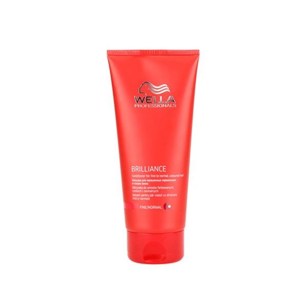 Wella Бальзам Brilliance Line для окрашенных нормальных и тонких волос, 200 мл121754Для смягчения и увлажнения волос используйте Бальзам для окрашенных нормальных и тонких волос. Благодаря ухаживающей формуле, оказывается комплексное воздействие на волосы и кожу головы, активно поддерживается блеск и сияние цвета. Кроме того, используя средство для окрашенных волос, вы сделаете каждый волос более мягким и гладким, обеспечите антистатический эффект. Как результат, волосы становятся упругими и сильными, послушными, мягкими и шелковистыми. Теперь они надежно защищены от негативных внешних факторов. В составе имеются витамин E, катионоактивный полимер, бриллиантовая пыльца, глиоксиловая кислота, экстракт орхидеи, пантенол.