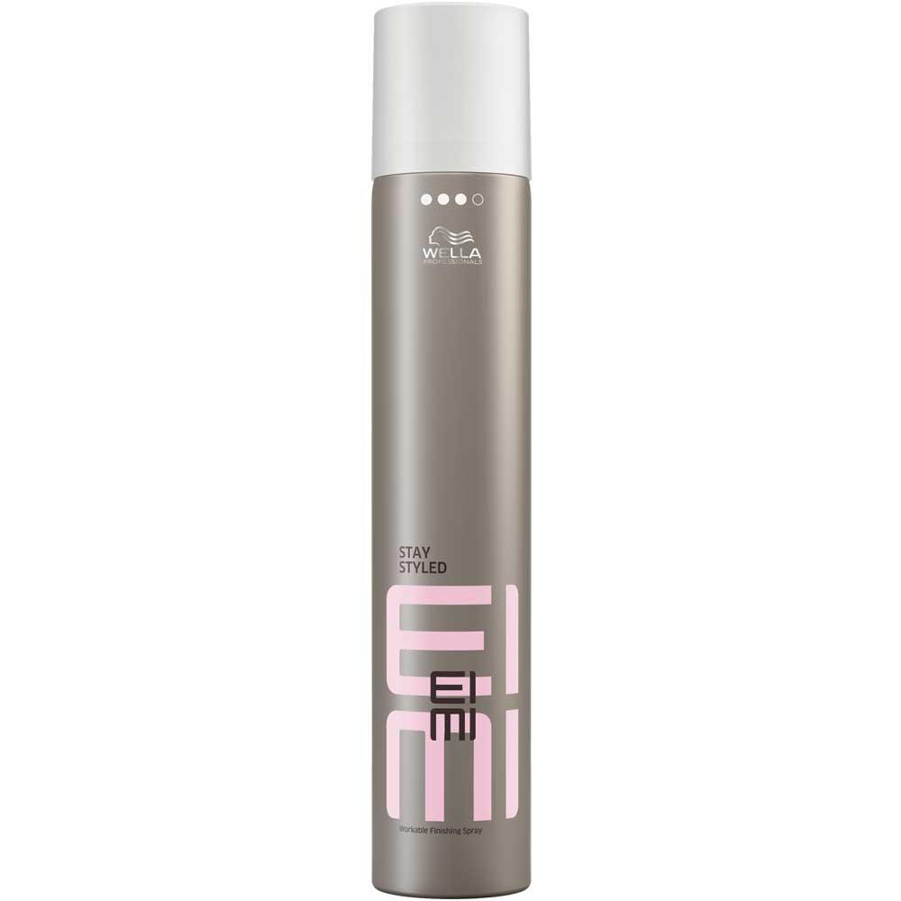 Wella Лак для волос сильной фиксации EIMI Stay Styled, 500 мл81511619/3627Stay Styled - Лак для волос сильной фиксации Надолго сохраняет идеальную форму укладки. Помогает защитить волосы от влаги, UV-лучей и воздействия высоких температур во время укладки. Чарующий аромат. Сухое распыление. Способ применения: Равномерно распылите на волосы, держа флакон на расстоянии вытянутой руки.