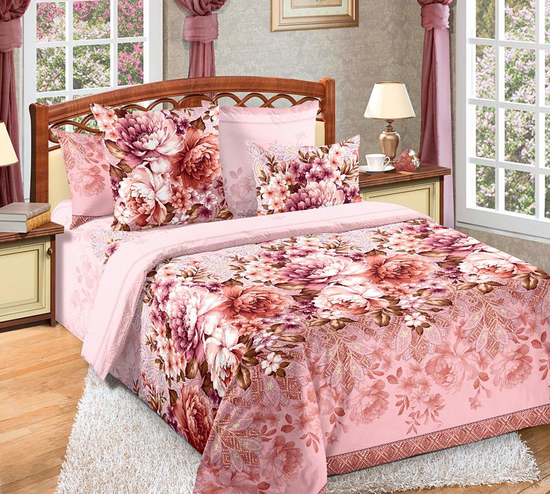 Комплект белья Белиссимо Лукреция, 2-спальный, наволочки 70х70, цвет: розовый, красный2100БВеликолепное постельное белье Белиссимо Лукреция выполнено из высококачественной бязи (100% хлопок) и украшено роскошным цветочным рисунком. Комплект состоит из пододеяльника, простыни и двух наволочек. Бязь - хлопчатобумажная плотная ткань полотняного переплетения. Отличается прочностью и стойкостью к многочисленным стиркам. Бязь считается одной из наиболее подходящих тканей, для производства постельного белья и пользуется в России большим спросом.