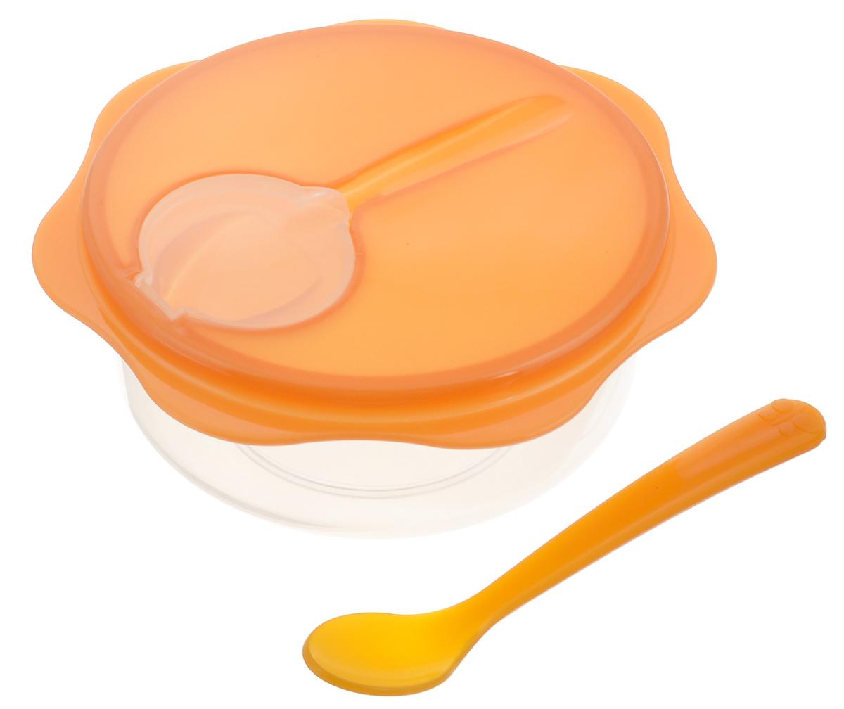 Набор дорожный Tescoma Bambini, детский, цвет: оранжевый, 3 предметаL051Дорожный набор Tescoma Bambini прекрасно подходит для бережного хранения и подачи детского питания, как в дороге, так и в домашних условиях. Набор состоит из миски, герметично закрывающейся крышки и ложечки. Изделия выполнены из высококачественного пластика безвредного для здоровья. Детская ложка гигиенически хранится в крышке. Миска подходит для использования в микроволновой печи (без крышки), холодильнике или морозильной камере. Можно мыть в посудомоечной машине. Диаметр миски: 12 см. Высота миски (без учета крышки): 5,5 см. Длина ложки: 14 см.