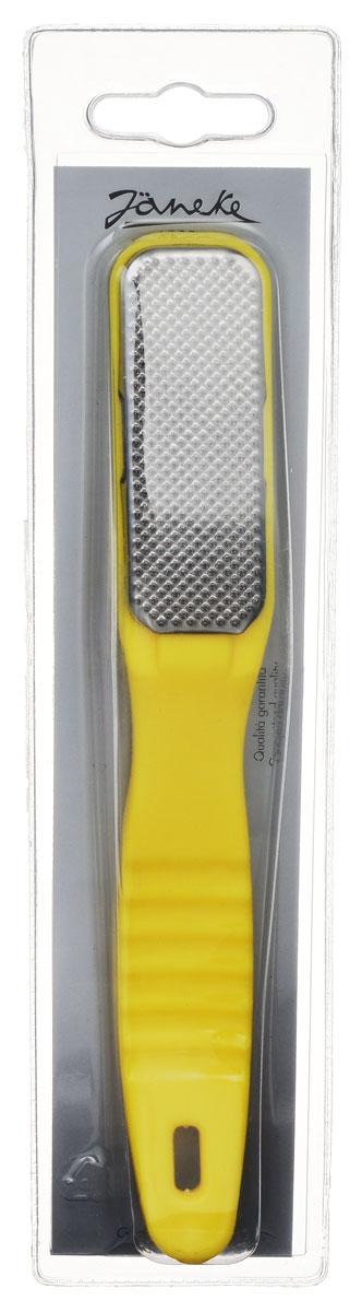 Janeke Рашпиль для удаления мозолей и огрубевшей кожи. BC2650780_желтыйТерка для ног Janeke с лазерной перфорацией, с удобной пластиковой ручкой предназначена для сухого педикюра. Специальное абразивное покрытие обеспечат бережный уход за вашими ногами. Товар сертифицирован.