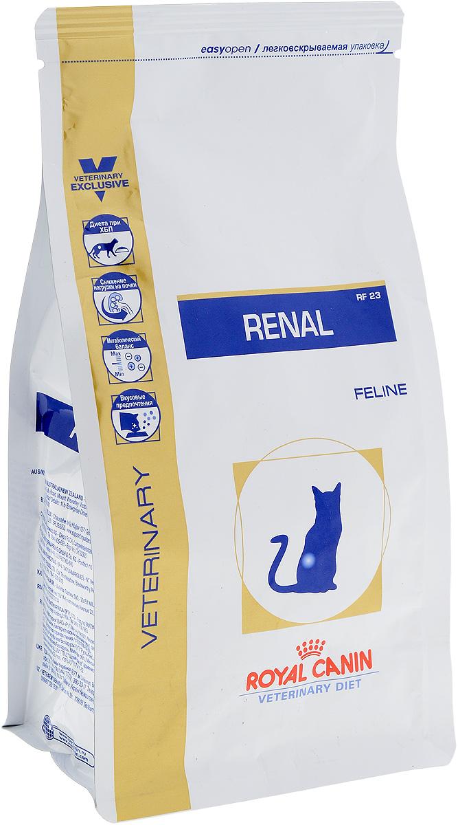 Корм сухой диетический Royal Canin Renal RF23 для кошек, при хронической почечной недостаточности, 500 г0120710Сухой диетический корм Royal Canin Renal RF23 предназначен для кошек при следующих показаниях:Хроническая почечная недостаточность (ХПН). Профилактика рецидивов образования камней оксалата кальция у кошек с ослабленной функцией почек. Профилактика рецидивов уролитиаза (уратов, цистинов), вызванных снижением уровня рН мочи. Противопоказания: Беременность, лактация. Длительность курса применения: Минимальный срок назначения диетотерапии составляет 6 месяцев. По истечении этого времени необходимо повторное общее обследование. Если повреждены 3/4 нефронов почек, болезнь приобретает необратимый характер, и диетотерапию назначают для применения в течение всей жизни кошки. Формула продуктов специально разработана для поддержания почечной функции при ХПН. Продукты отличаются низким содержанием фосфора, содержат комплекс антиоксидантов, жирные кислоты ЕРА и DHA. При ХПН почки теряют способность надлежащим образом выводить фосфор. Низкое содержание фосфора в продукте способствует замедлению развития болезни. При кормлении диетическим кормом с адаптированным содержанием рыбьего жира (источника незаменимых жирных кислот ЕРА и DHA) повышается скорость клубочковой фильтрации.Чрезмерная нагрузка на почки может спровоцировать уремический криз. Высокое качество и адаптированное содержание белков способствуют снижению нагрузки на почки. Если содержание белка в рационе значительно превышает минимальные потребности, при сниженной экскреторной функции почек продукты распада азота накапливаются в биологических жидкостях.ХПН может привести к метаболическому ацидозу, поэтому в состав продуктов входят подщелачивающие вещества. Почки играют важнейшую роль в поддержании кислотно- щелочного баланса. При нарушенной функции почек их способность к выведению ионов водорода и реабсорбции ионов бикарбоната снижена, в связи с чем высок риск метаболического ацидоза.Специально разработанный ар
