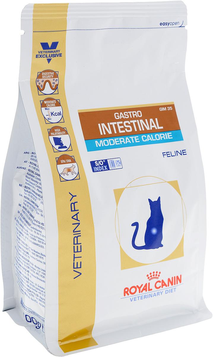 Корм сухой диетический Royal Canin Gastro Intestinal. Moderate Calorie для кошек, при нарушениях пищеварения, c пониженным содержанием жира, 400 г22265Royal Canin Gastro Intestinal. Moderate Calorie - это полнорационный диетический корм для кошек с пониженным содержанием жира, рекомендуемый при острых расстройствах пищеварения. Показания к применению: - острая и хроническая диарея; - плохая переваримость и абсорбция питательных веществ; - пролиферация бактерий в тонком кишечнике; - Хроническое воспаление кишечника; - колит; - Заболевания печени (кроме печеночной энцефалопатии); - Панкреатит; - Экссудативная энтеропатия; - гастрит. Длительность курса применения. Для усиления регенераторной способности ворсинчатого эпителия стенки кишечника при остром воспалительном процессе рекомендуется диетотерапия с минимальным сроком три недели. При хронических заболеваниях может потребоваться назначение диетического корма на протяжении всей жизни животного. Для оптимальной работы пищеварительной системы необходимо соблюдение суточного рациона и увеличение его...
