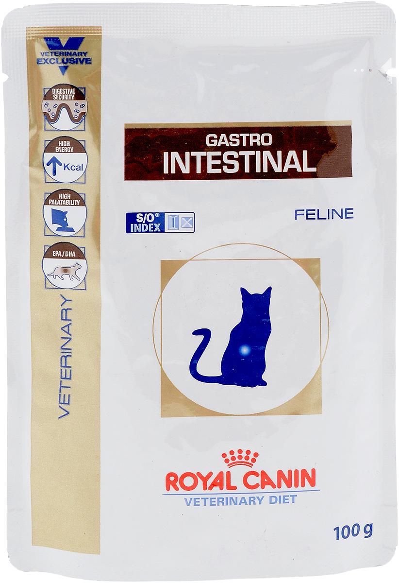 Консервы диетические Royal Canin Gastro Intestinal для кошек, при нарушениях пищеварения, 100 г22274Royal Canin Gastro Intestinal. Moderate Calorie - это полнорационные диетические консервы для кошек с пониженным содержанием жира, рекомендуемый при острых расстройствах пищеварения. Показания к применению: - острая и хроническая диарея; - плохая переваримость и абсорбция питательных веществ; - пролиферация бактерий в тонком кишечнике; - Хроническое воспаление кишечника; - колит; - Заболевания печени (кроме печеночной энцефалопатии); - Панкреатит; - Экссудативная энтеропатия; - гастрит. Длительность курса применения. Для усиления регенераторной способности ворсинчатого эпителия стенки кишечника при остром воспалительном процессе рекомендуется диетотерапия с минимальным сроком три недели. При хронических заболеваниях может потребоваться назначение диетического корма на протяжении всей жизни животного. Для оптимальной работы пищеварительной системы необходимо соблюдение суточного рациона и...