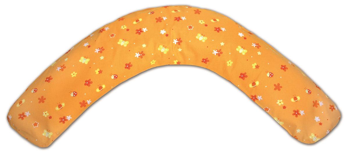 TheraLine Подушка для беременных и кормящих мам Поляна цвет оранжевый 170 см52038601Подушка Theraline необходима для беременных и кормящих мам во время сна, отдыха и кормления малыша. Наполнитель представляет собой мелкие (всего 0,5-1,5 мм!!!) полистироловые шарики, гипоаллергенный, без запаха, абсолютно безвредный для здоровья,что подтверждено результатами немецкого OKO-Test.