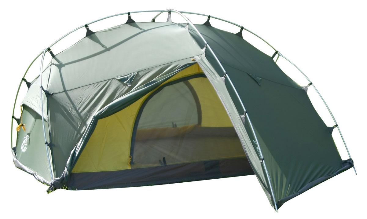 Палатка Сплав Octopus 3, цвет: зеленый800802Сплав Octopus 3 - это всесезонная палатка с полным внешним каркасом. Палатка и тент изготовлены из прочного полиэстера. Изделие очень комфортное. Возможна как отдельная установка тента без внутренней палатки, так и установка палатки в сборе с пристегнутой внутренней палаткой. Тент полностью крепится к внешним дугам крючками. Изделие имеет два входа и два объемных тамбура. Юбка сплошная по всему периметру. Веревки оттяжек имеют вплетенную светоотражающую нить. Швы тента и дна проклеены. В комплекте идет ремонтный набор: ремонтная гильза для дуги, самоклеющиеся заплатки на тент и дно, нитки с иголкой.Количество мест: 3.Размеры внешней палатки, тента: 320 х 220 х 120 см.Размеры спального места: 210 х 160 х 110 см.Размеры в упакованном виде: 50 х 20 х 20 см.Полный вес: 3,7 кг.Минимальный вес (без чехла и колышков): 3,4 кг.