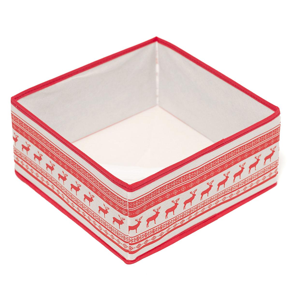 Кофр для хранения Homsu Scandinavia, 28 х 28 х 13 смHOM-126Кофр для хранения Homsu Scandinavia изготовлен из высококачественного нетканого полотна и декорирован красочным изображением. Кофр имеет одно большое отделение, где вы можете хранить различные бытовые вещи, нижнее белье, одежду и многое другое. Вставки из картона обеспечивают прочность конструкции. Стильный принт, модный цвет и качество исполнения сделают такой кофр незаменимым для хранения ваших вещей.