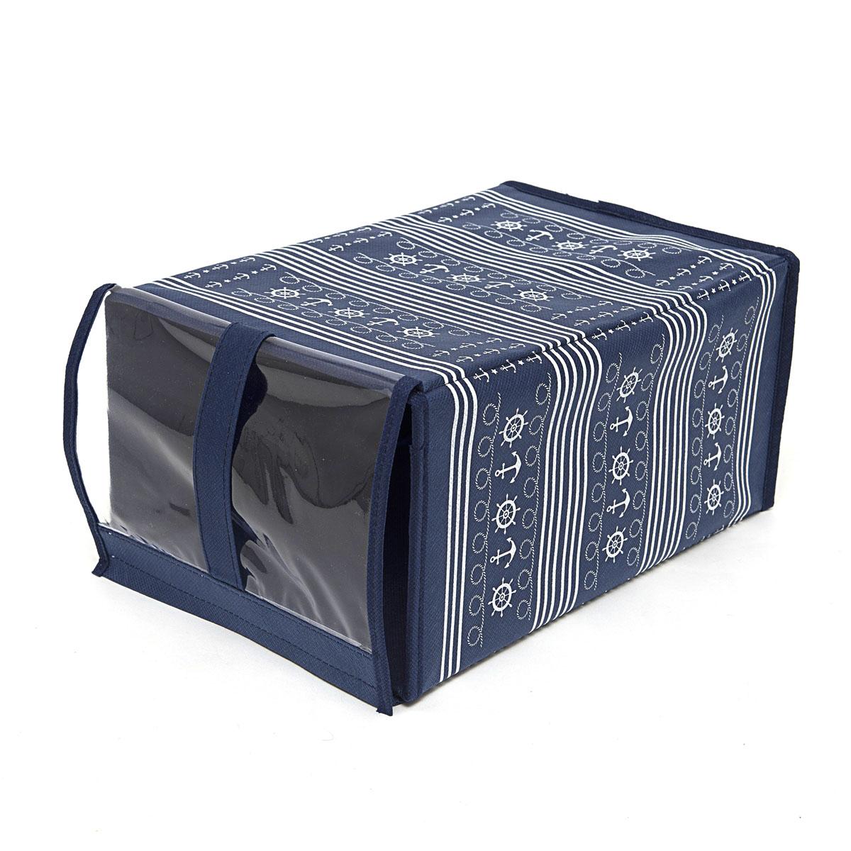 Кофр для хранения обуви Homsu Ocean, 33 х 16 х 22 смHOM-225Кофр Homsu Ocean изготовлен из высококачественного нетканого материала с фирменным орнаментом, который позволяет сохранять естественную вентиляцию, а воздуху свободно проникать внутрь, не пропуская пыль. Благодаря специальной картонной вставке, кофр прекрасно держит форму, а эстетичный дизайн гармонично смотрится в любом интерьере. Изделие идеально подходит для хранения обуви. Мобильность конструкции обеспечивает складывание и раскладывание одним движением. Кофр Homsu Ocean - это новый взгляд на систему хранения - теперь хранить вещи не только удобно, но и красиво. Прозрачная вставка из ПВХ позволяет видеть содержимое. Размер кофра: 33 х 16 х 22 см.