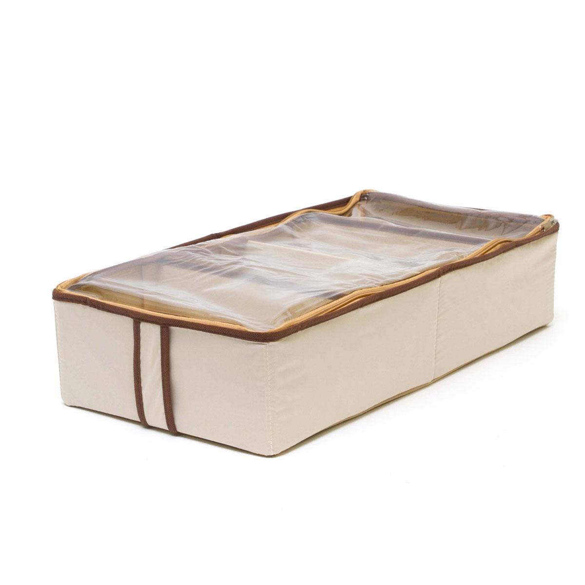 Органайзер для хранения обуви Homsu Bora-Bora, 4 секции, 52 х 26 х 12 смHOM-28Очень удобный способ хранить сезонную обувь. Четыре отделения размером 10см на 5см вмещают 4 пары обуви. Органайзер плоский, удобно хранить под кроватью или диваном. Внутренние секции можно моделировать под размеры обуви, например высокие сапоги. Имеет жесткие борта, что является гарантией сохраности вещей. Фактический цвет может отличаться от заявленного.
